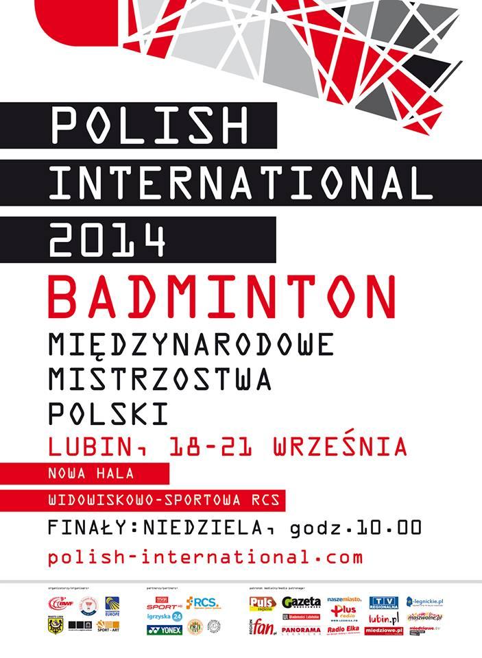 Mi�dzynarodowe Mistrzostwa Badmintona Polish International 2014 w Lubinie