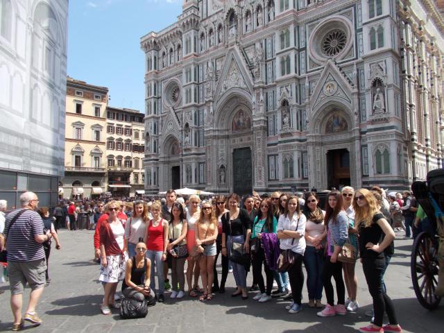Uczniowie z Zespołu Szkół nr 2 w Bolonii