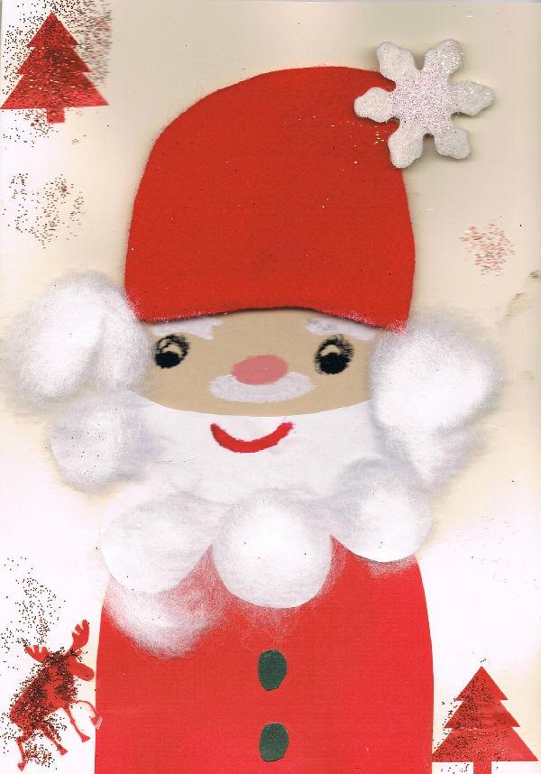Uśmiechnięty Mikołaj na kartce PeBeKi