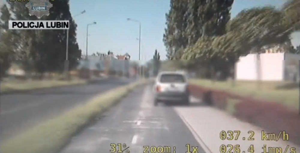 Ucieka�a ulicami Lubina 100km/h - film